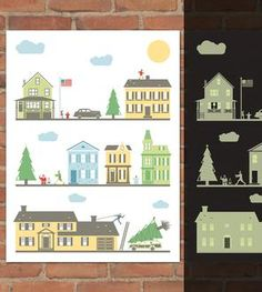 Day & Night At Christmas Glow-In-The-Dark Print