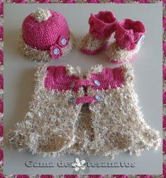 Conjunto de crochet para bebê de 1m