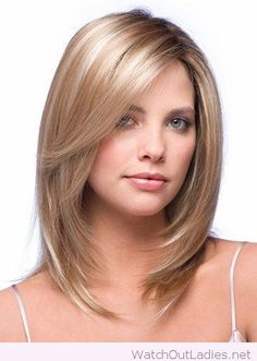 Amazing layered medium length hair cut