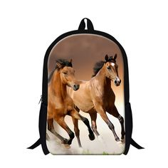 ba0d7398e4 Personalized childrens animal horse backpacks for teen boys