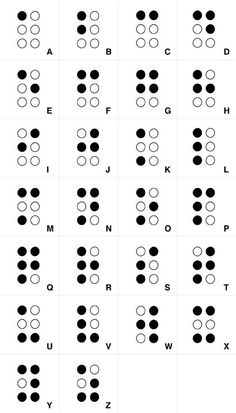 the braille alphabet Alphabet A, Alphabet Symbols, Sign Language Words, Sign Language Alphabet, Learn Sign Language, Le Braille, Alfabeto Braille, Helen Keller, Typography