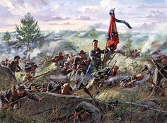 On a hot July 2, 1863 the men of the 5th Texas advanced up the rocky slope to the climax of their ill-fated assault on Little Round Top.  DON TROIANI