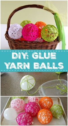 Get back to your roots with this classic craft for a decorative Glue Yarn Ball! With this simple DIY, you can make a ton of them for just a few bucks!