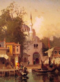 Constantinople by Fabius Germain Brest – Canvas Art Print Great Paintings, Landscape Paintings, Istanbul Skyline, Ottoman Empire, French Artists, Canvas Art Prints, Art History, 19th Century, Fine Art