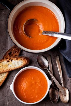 looks so good. I'd burn my tongue on this, because i can never resist eating this piping hot! #tomato #soup