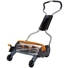 """Fiskars 18"""" Reel Lawn Mower.  If I have to buy a mower, I want this one."""