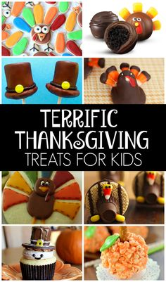 A great roundup of FUN Thanksgiving treats for kids on www.prettymyparty.com.