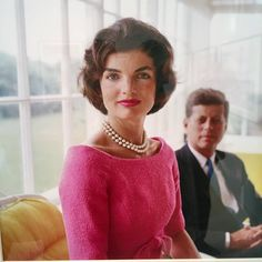 Jacqueline & John F. Kennedy - Yellow Room Hyannis Port 1959 by Mark Shaw