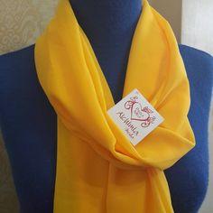 Foulard tessuto voile, morbido splendido colore giallo sole di ALCHIMIAMODA su Etsy