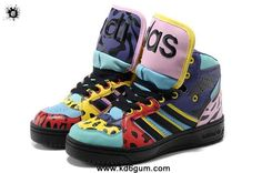Authentic Adidas X Jeremy Scott Big Tongue Shoes Color