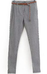 Vertical Striped Slim Pant