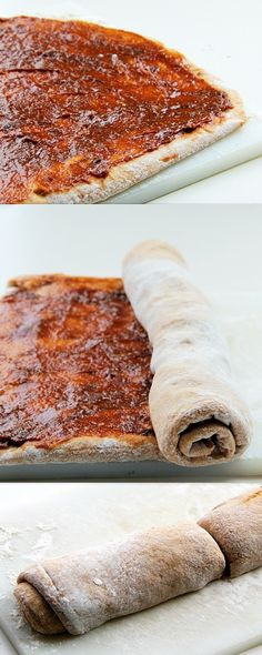 Date Cinnamon Rolls (healthier, low fat, vegan) [bread part calls for 1 tbsp oil, but that can just be left out and add 1tbsp nut milk to keep liquid ratio consistent]