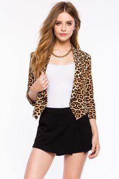 Леопардовый пиджак Размеры: S, M, L Цвет: коричневый с принтом Цена: 2033 руб.  #одежда #женщинам #пиджаки #коопт