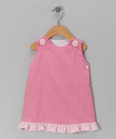 Pink Gingham Ruffle Jumper - Infant, Toddler & Girls