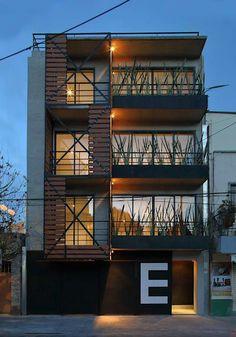 Edificio Elisa: Casas multifamiliares de estilo  moderno por Boutique de Arquitectura  (Sonotectura + Refaccionaria) https://www.homify.com.mx/habitaciones/casas-multifamiliares?page=13