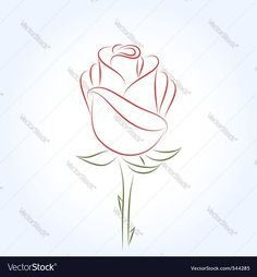 42a55f711 Vector image of Rose Vector Image, includes red, design, drawing, flower  &