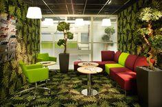 Taukotilat melkein kuin metsän keskellä #toimisto #design