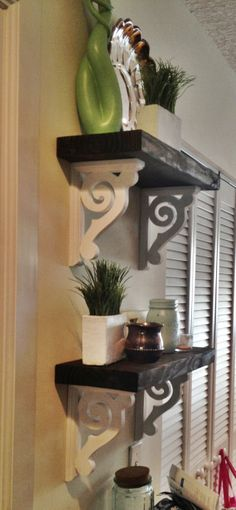 DIY shelves - these are really pretty :)