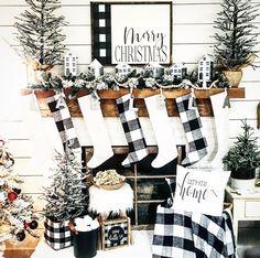 Christmas Decorations For The Home, Christmas In July, Little Christmas, Christmas Home, Merry Christmas, Holiday Decor, Ladder Decor, Christmas Stockings