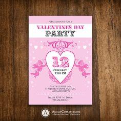 Valentine Tea Party Invitation February by GreenCherryFactory ...