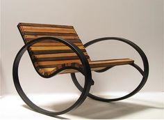 Originais Modelos de Cadeiras de Balanço   - Nesta aqui você terá que manter o equilíbrio para não virar uma cambalhota... Design e fotografia - TudoPorEmail