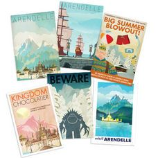 Frozen Travel Posters - FREE DOWNLOAD - go to Disney Movie Rewards, sign in (or sign up), search for Frozen Posters - click to redeem which will allow you to download these images - great for memory keeping projects, themed decor, and other Frozen crafts