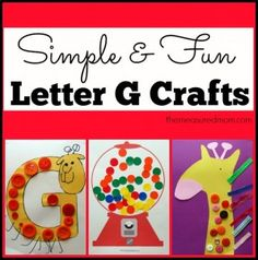 Letter G Crafts for Toddlers and Preschoolers (from The Measured Mom)