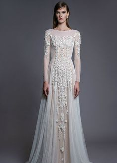 CHANA MARELUS Lavender dress with hand embroidered details