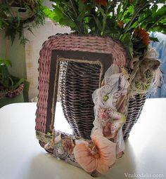 Плетение рамки из газетных трубочек / Плетение из газет / В рукоделии