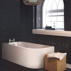 Premier Crescent 1700 x Back-To-Wall Bath With Panel Premier a long time leader in baths now available at AQVA Direct. Size of this Luxury Back-To-Wall Bath from Royal Bathroom, Bathroom Bath, Small Bathroom, Bathrooms, Bathroom Ideas, Back To Wall Bath, Round Bath, Compact Bathroom, Heating And Plumbing