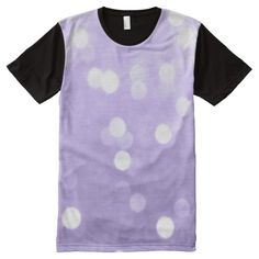 Ultra violet purple sparkly bokeh men's All-Over-Print panel T-Shirt apparel by #PLdesign #style #fashion #pantone @zazzle