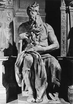 Full statue of Moses receiving the tablets of the Law, Michelangelo Michelangelo, Visit Rome, Daughter Of Smoke And Bone, Italian Sculptors, John Everett Millais, Museum, Greek Art, Renaissance Art, Italian Renaissance