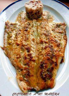 Cocina – Recetas y Consejos Fish Dishes, Seafood Dishes, Fish And Seafood, Cooking Bread, Cooking Recipes, Healthy Recipes, Cooking Lamb, Cooking Wine, Fish Recipes