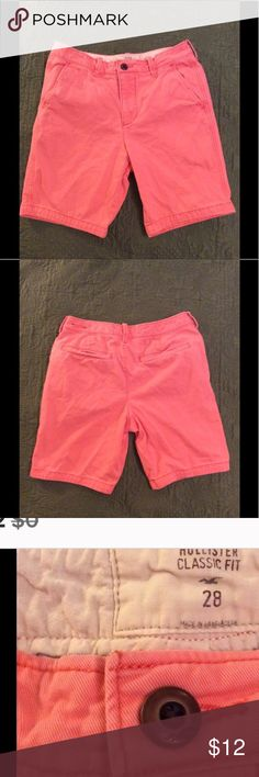 25% off BUNDLES ⛄️Hollister Shorts Waist 28 Hollister Classic fit shorts. EUC. Light orange  tangerine color. Hollister Shorts Cargo