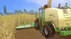 A Krone Big X 1100 corn harvester in a field collecting up some freshly grown corn crops 😊😀🌽⭐🌟 Corn Crop, Farm Simulator, Farming, Facts, Harvester, Big, Tractor, Truths