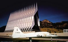Air Force Cadet Chapel, Colorado Springs, Colorado, USA. Builted in 1954 by architecture office Skidmore, Owings  Merrill.