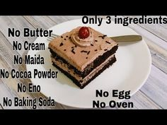 3 Ingredients Chocolate Pastry In Lock Down Cake Recipes In Hindi, Cake Recipes At Home, Oreo Cake Recipes, Marble Cake Recipes, Indian Dessert Recipes, Snack Recipes, Puri Recipes, Appetizer Recipes, Appetizers
