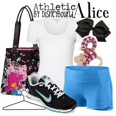 Disney Bound: Alice from Disney's Alice in Wonderland (Athletic Outfit) Disney Workout, Run Disney, Disney Girls, Disney Running, Disney Princess, Alice In Wonderland Outfit, Wonderland Costumes, Disney Bound Outfits, Disney Dresses