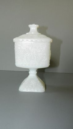 Vintage Indiana Glass Milk Glass Candy Dish. I have this but i bought it with not lid.