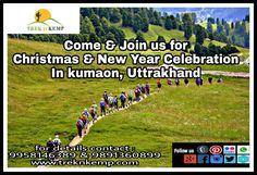 Christmas and New Year Packages @ kumaon, Uttrakhand Call us for early bird deals  #NewYear2018 #Christmasparty #NewYearEve #treknkemp #newyearinuttranchal #adventure