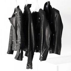 Black leather jacket lineup // Follow @ShopStyle on Instagram to shop this look