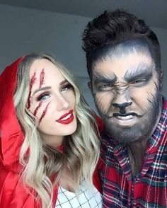 OMG I love these college Halloween costume ideas couples!!! #Halloween Halloween 2018, Cute Couple Halloween Costumes, Popular Halloween Costumes, Best Couples Costumes, Halloween Celebration, Halloween Makeup Looks, Scary Couples Halloween Costumes, Halloween Costume For Couples, Halloween Horror