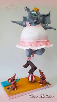 Olina Ballerina by Dirk Luchtmeijer Anti Gravity Cake, Gravity Defying Cake, Crazy Cakes, Fancy Cakes, Fondant Cakes, Cupcake Cakes, 3d Cakes, Cake Structure, Fantasy Cake