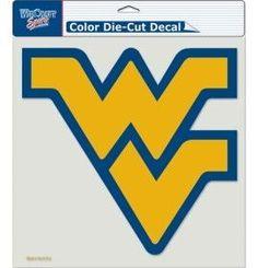 """West Virginia Mountaineers Die-Cut Decal - 8""""x8"""" Color"""