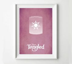 Disney Tangled Movie Poster Disney Princess Poster by POSTERED