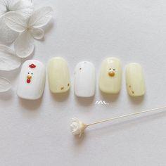 Pin on Nail Pin on Nail Classy Nails, Simple Nails, Cute Nail Art, Cute Nails, Nail Drawing, Korean Nail Art, Animal Nail Art, Soft Nails, Nail Art Techniques