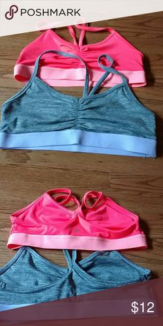 Set of 2 old navy sports bras Cute and functional old navy sport bras. no padding. Breathable. Excellent condition. One is a hot pink color, other is grey/purple. Old Navy Intimates & Sleepwear Bras