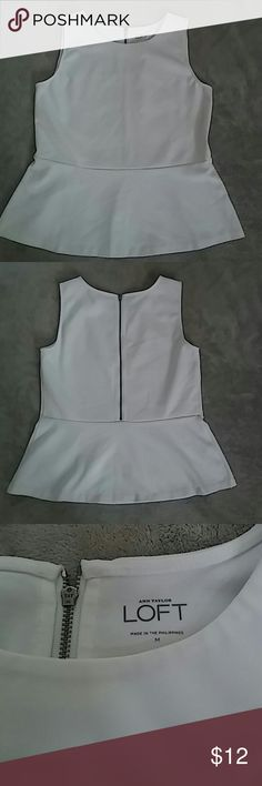 NWOT Ann Taylor peplum stretch top Never worn clean and beautiful Tops Blouses