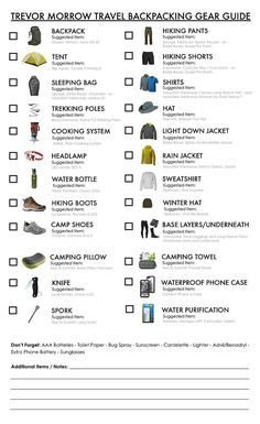 Family Camping Checklist  Camping Checklist And Camping Organization