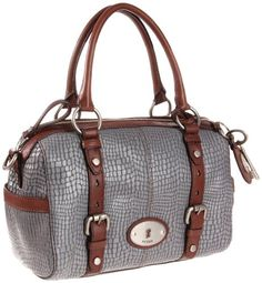 Fossil bag, leather, good color combo